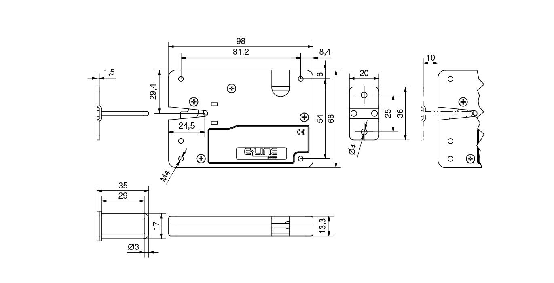 Technische Zeichnung MLU1002